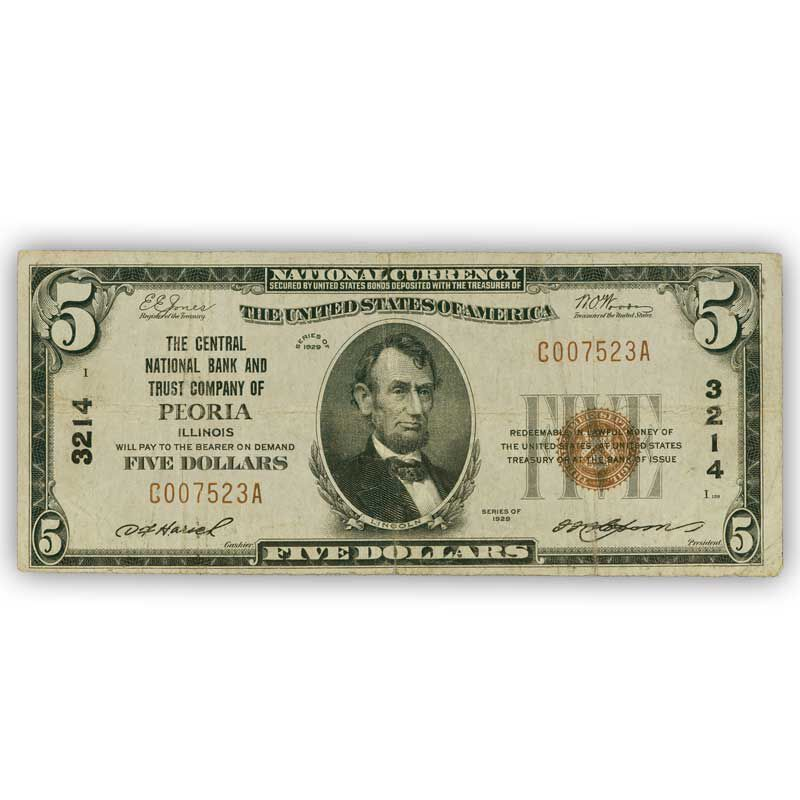 The Complete Set of Small Size Five Dollar Bills SFT 1