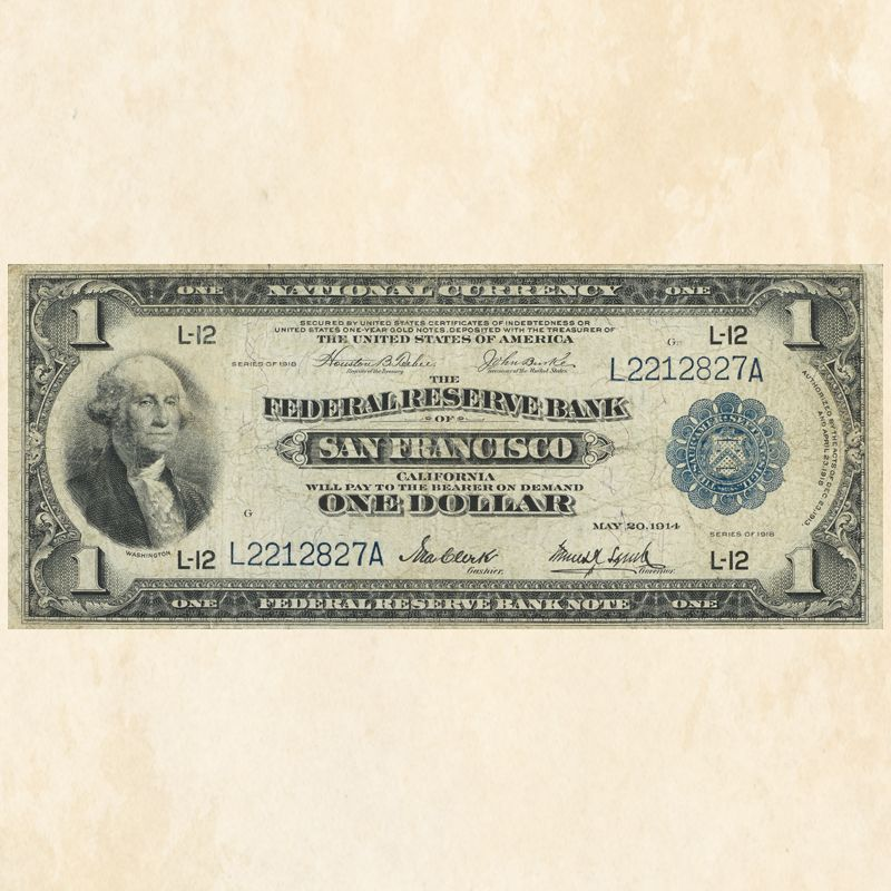 The Famous One Dollar Green Eagle Note FRB 2