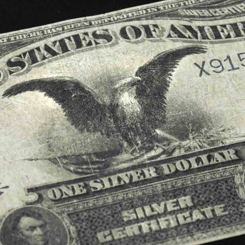 Black Eagle Silver Certificate of 1899 S9C 5