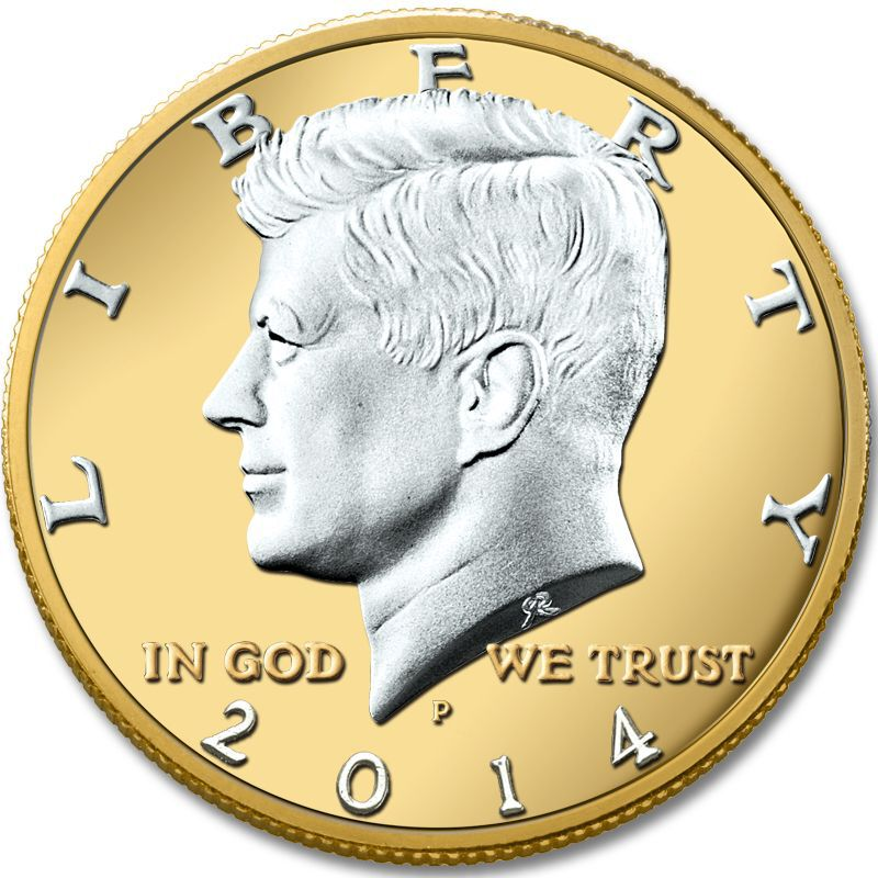 The Platinum and Gold Highlighted Kennedy Half Dollar Collection KPG 3