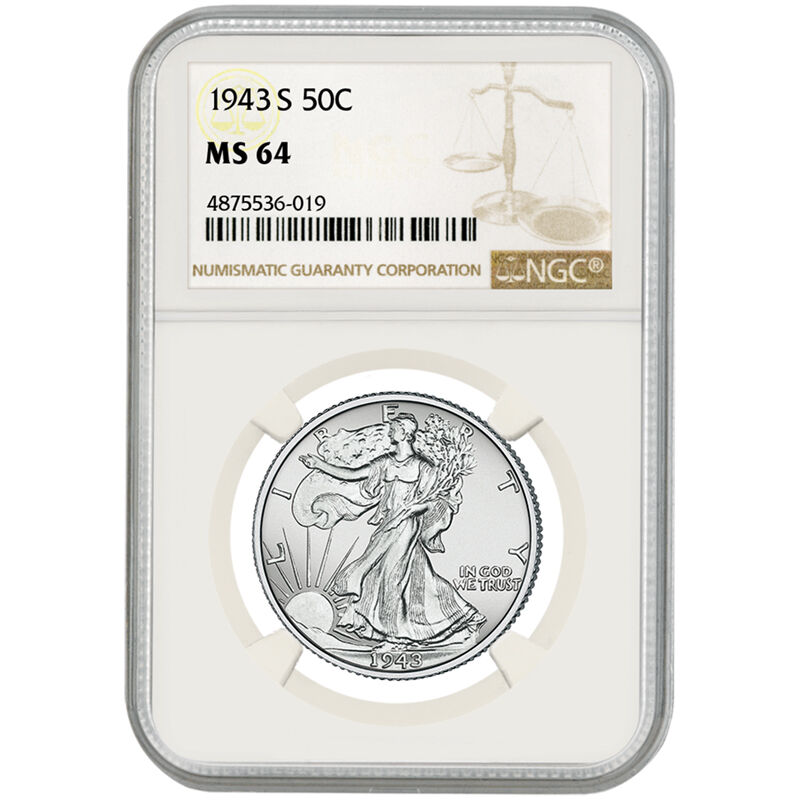 Complete MS64 Walking Liberty Silver Half Dollar Mint Collection W64 3