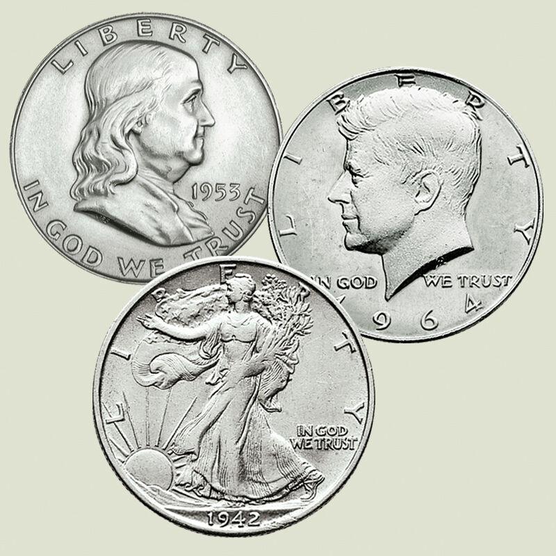 Historic US Silver Half Dollars SHT 2