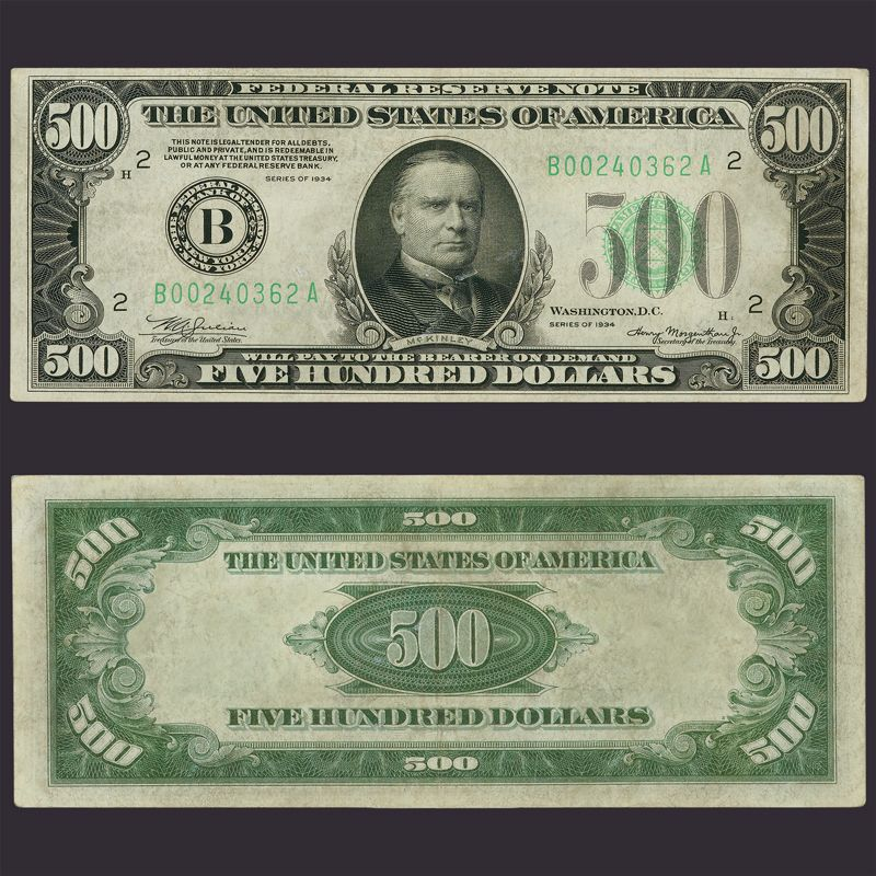The Last US 500 Bill L5N 1
