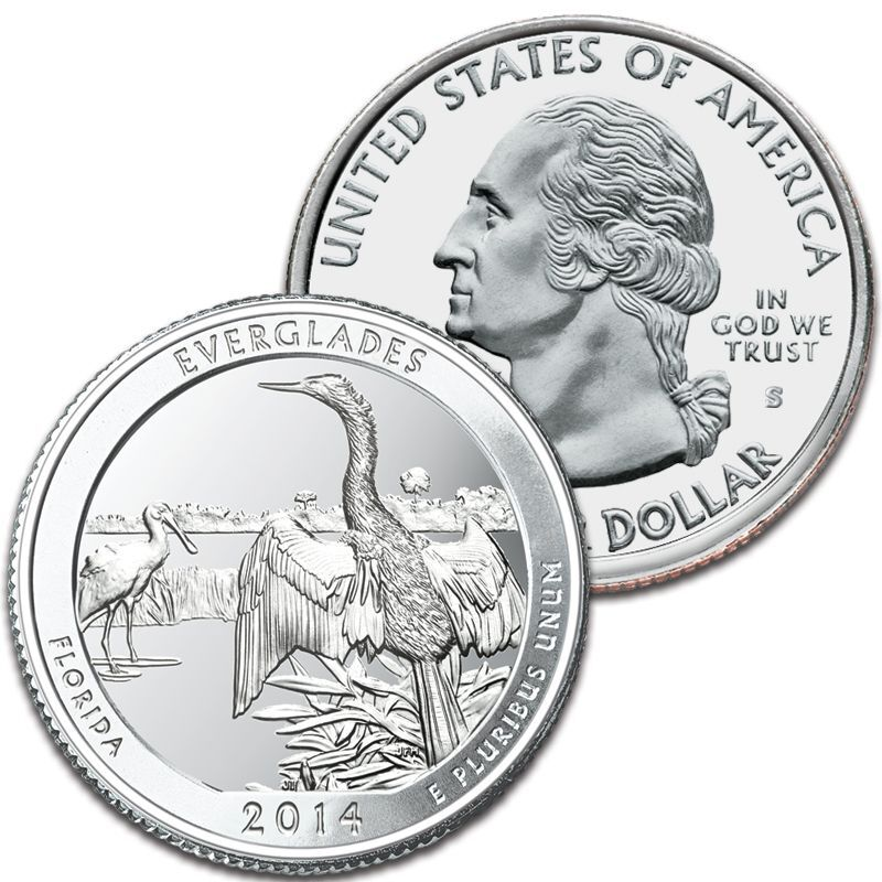 The US National Parks State Quarters Centennial Edition AB1 2