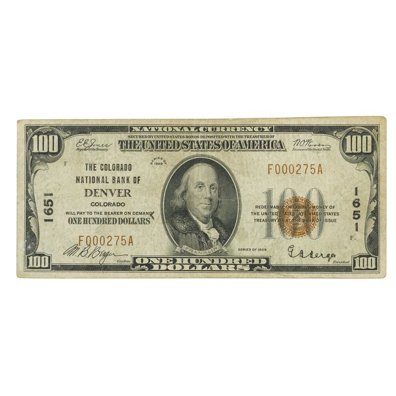 Depression Era High Value US Currency HDN 1