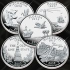 Silver Proof Statehood Quarters Sets QPS 1