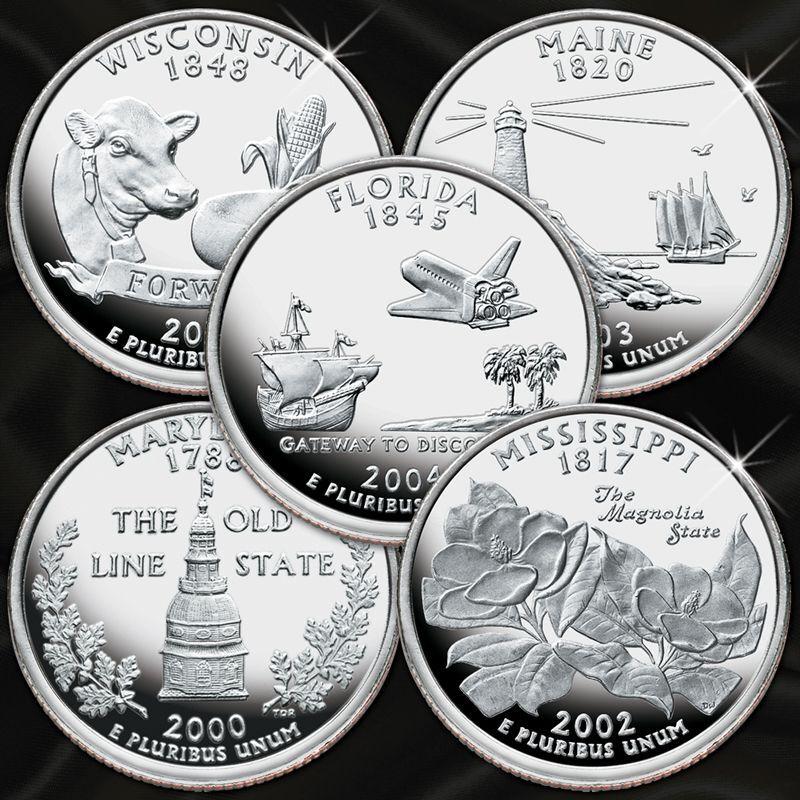 Silver Proof Statehood Quarters Sets QPS 1