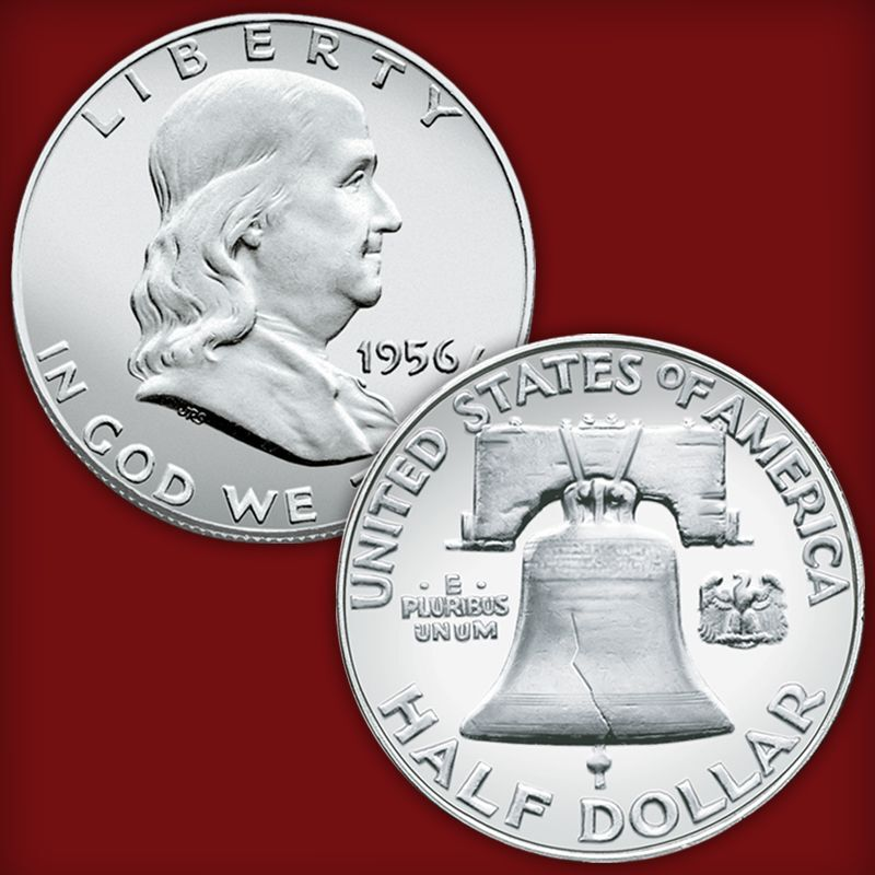 uncirculated franklin silver half dollar collection UFH d Coins