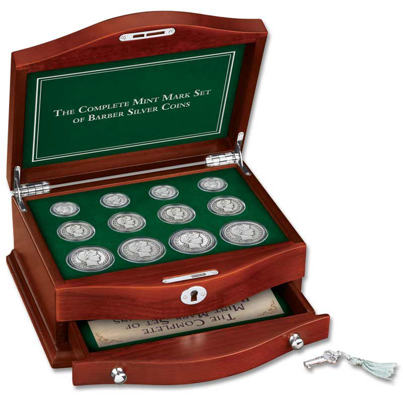 The Complete Mint Mark Set of Barber Silver Coins BMD 4