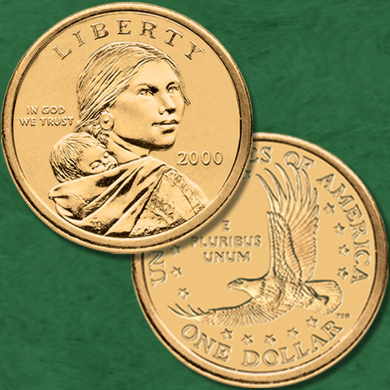 The Complete Uncirculated Collection of Sacagawea Dollars NSP 4