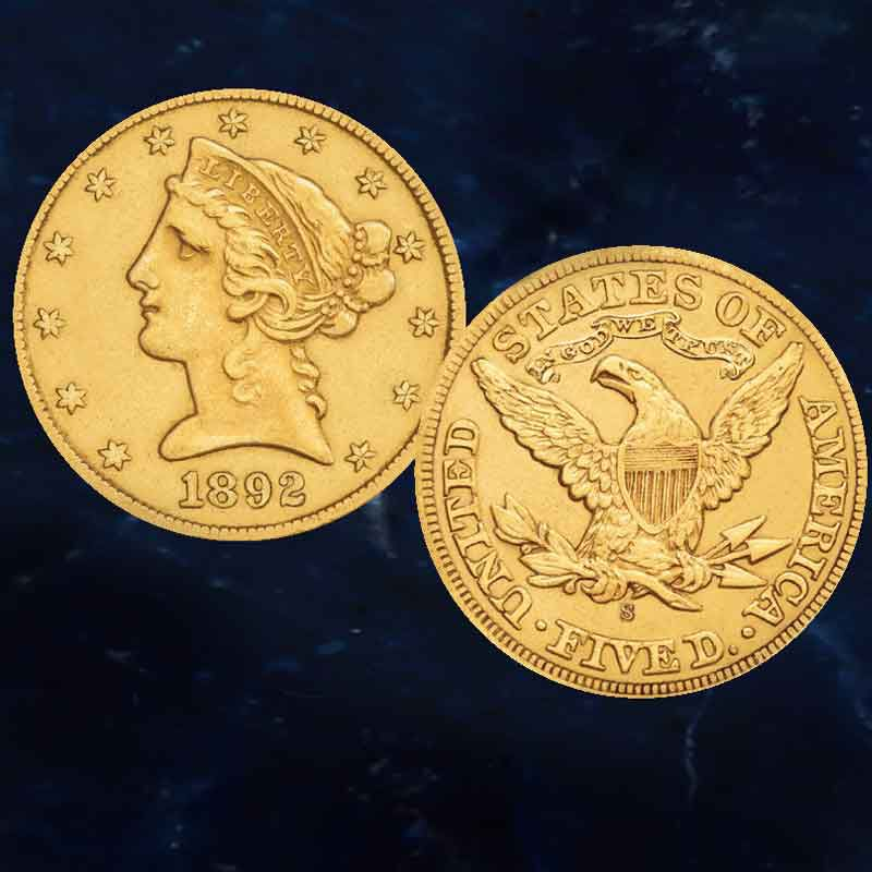 The San Francisco Mint US Gold Coin Collection GSO 6