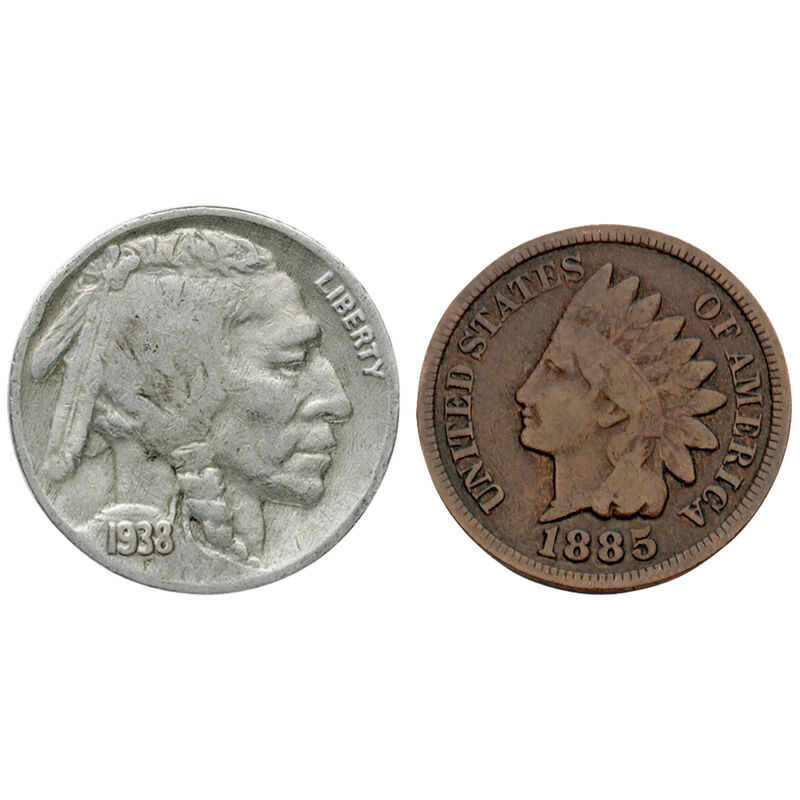 fifty years of us indian head coins BPS d Coins