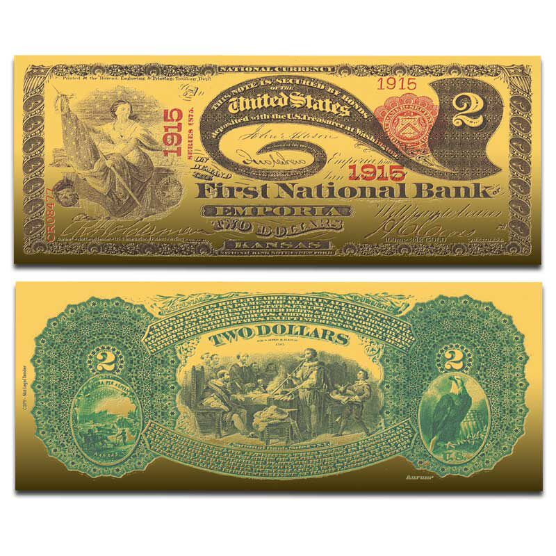 The Greatest US Currency 24kt Gold Note Collection CRG 1