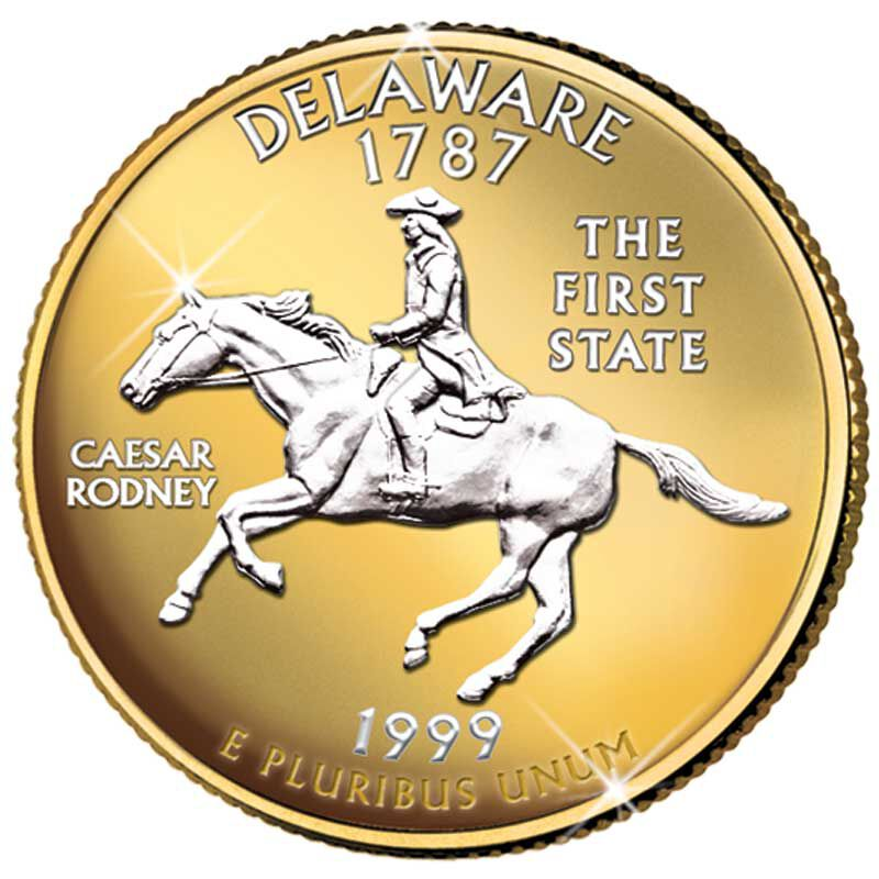 The Platinum  Gold Highlighted US State Quarters Collection AB2 1