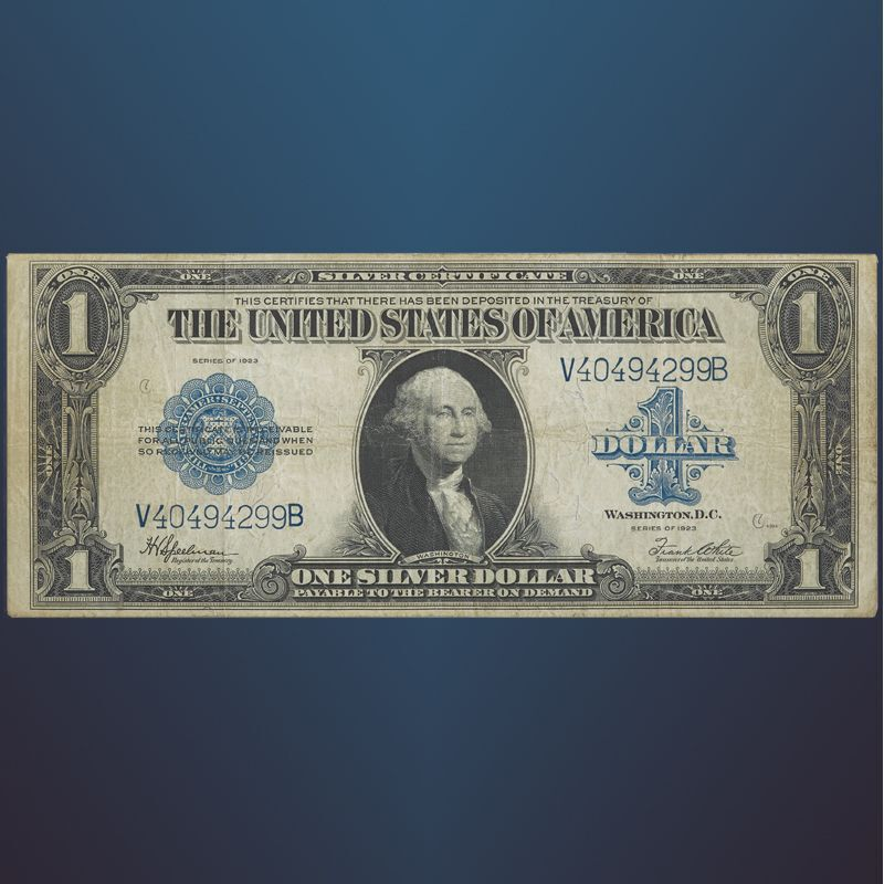 The Last Large Size One Dollar Silver Certificate LLS 1
