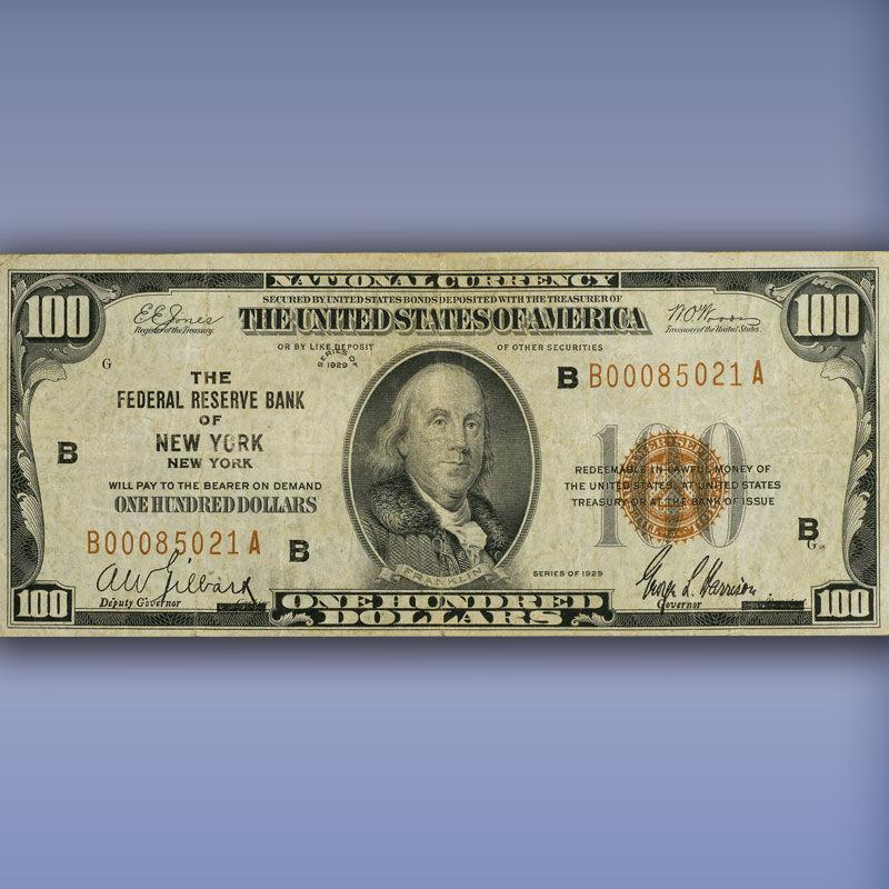The Complete Denomination Set of 1929 Federal Reserve Bank Notes FR9 1