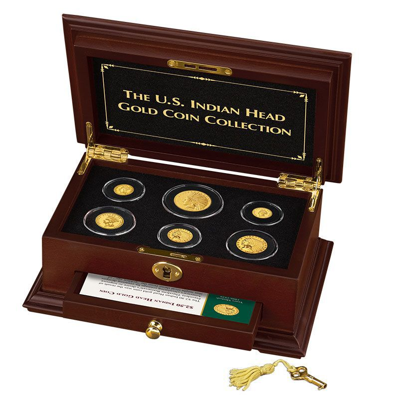 The US Indian Head Gold Coin Collection GHI 7