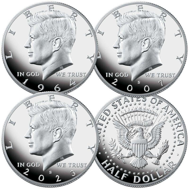 john f kennedy silver proof half dollars KSP a Main