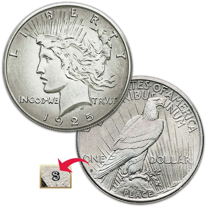 The Complete Set of San Francisco Mint Peace Silver Dollars PSS 2