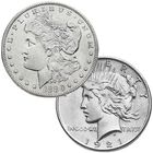 complete morgan peace silver dollars PMC a Main