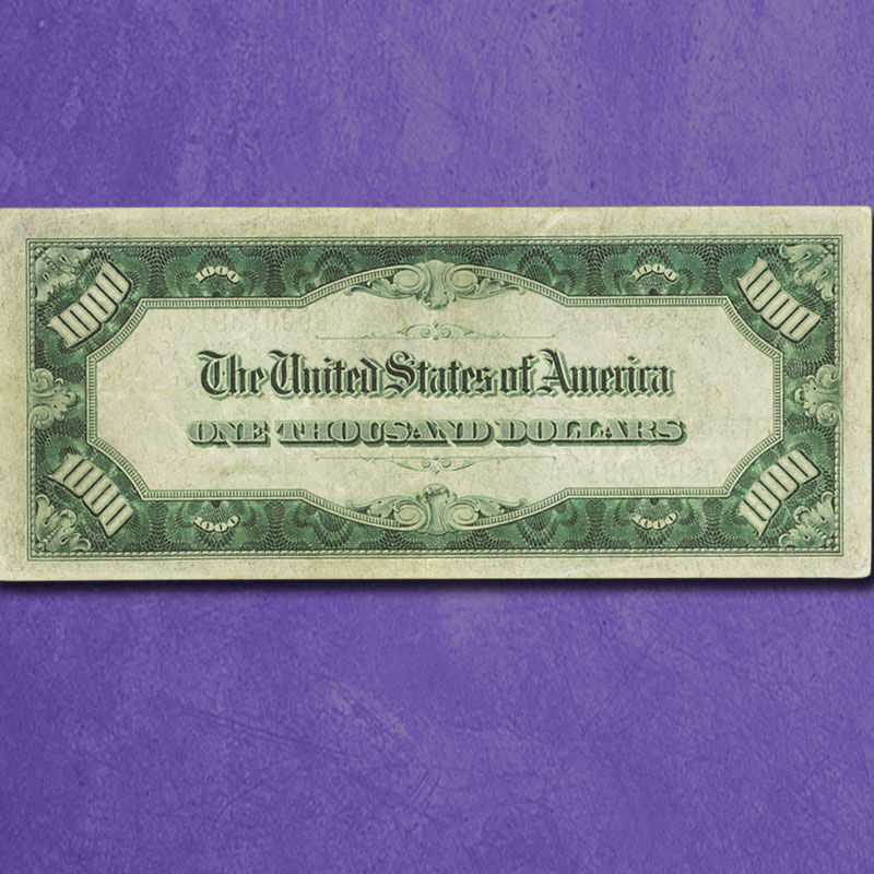 The Last US 1000 Bill L1N 1