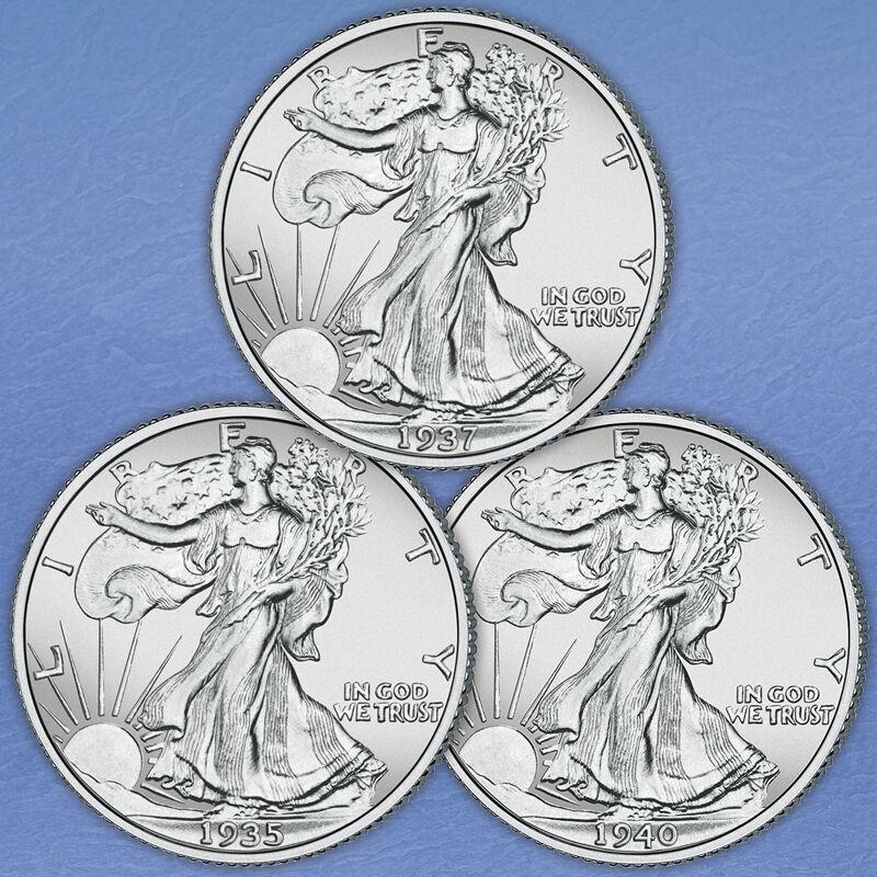 The Uncirculated Walking Liberty Silver Half Dollar Collection WHU 1