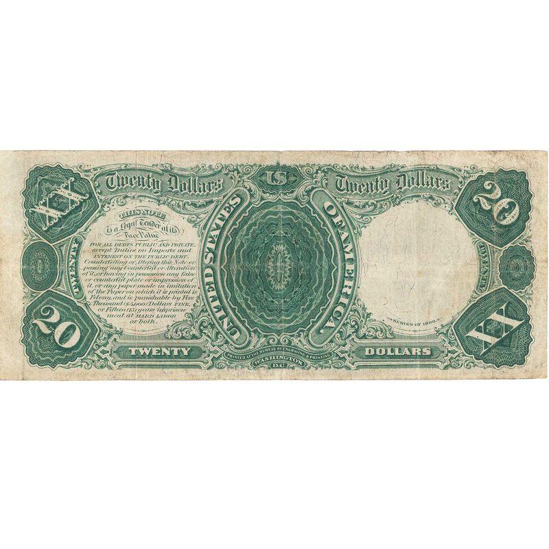 the last 20 dollar united states note LLT b Note