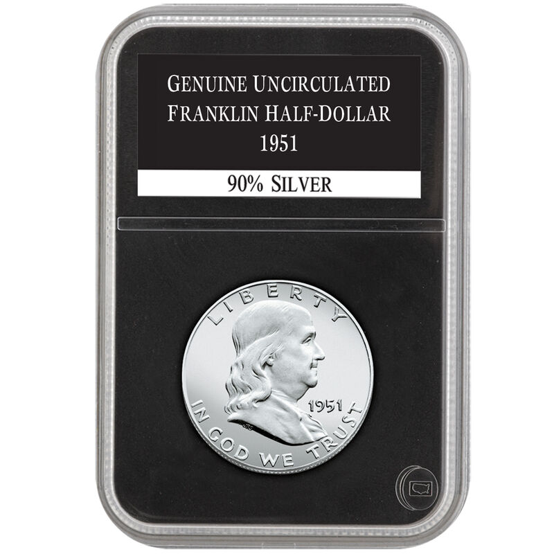 uncirculated franklin silver half dollar collection UFH a Main