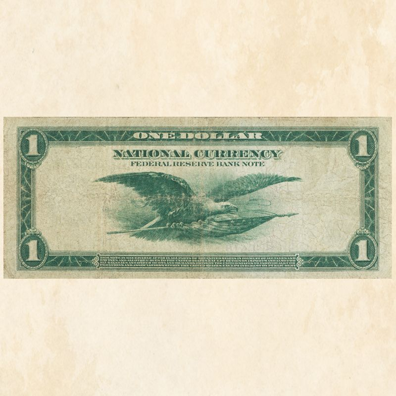 The Famous One Dollar Green Eagle Note FRB 1