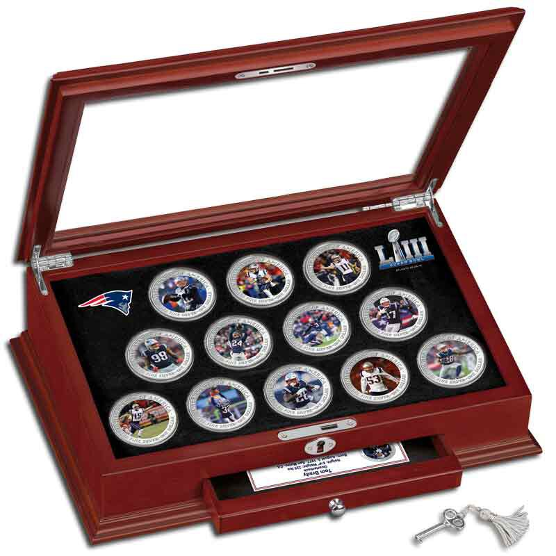 The New England Patriots Super Bowl LIII Champions Commemorative Coin Collection B19 7