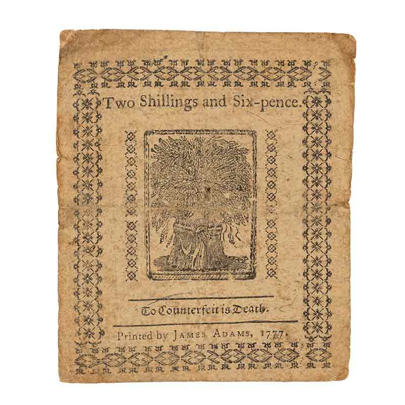 Americas Earliest Paper Currency CNT 3