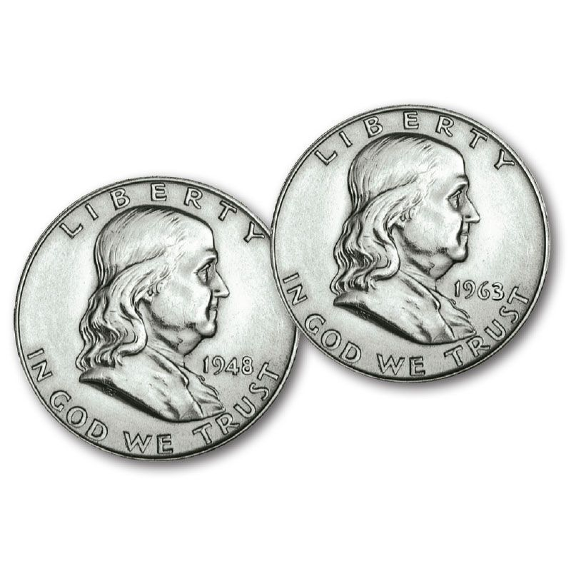 The Complete Benjamin Franklin Silver Half Dollar Collection FHS 1