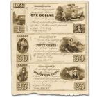 19th Century Private Issue Currency Sheet OCF 1