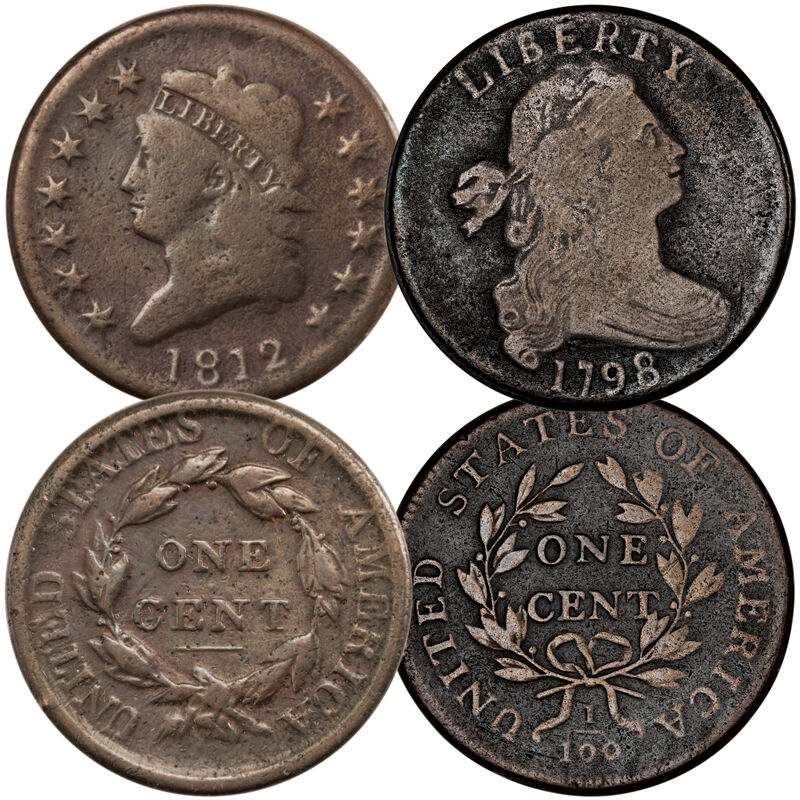 The Last Large US One Cent Coins LOC 1