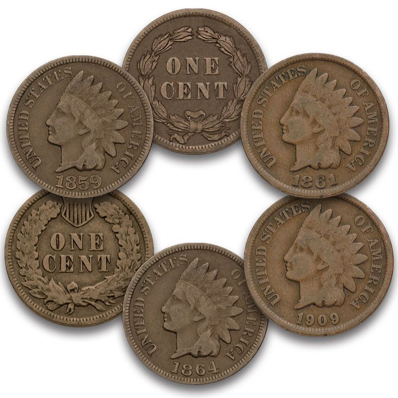 The Deluxe US Indian Head Penny Collection IP5 1