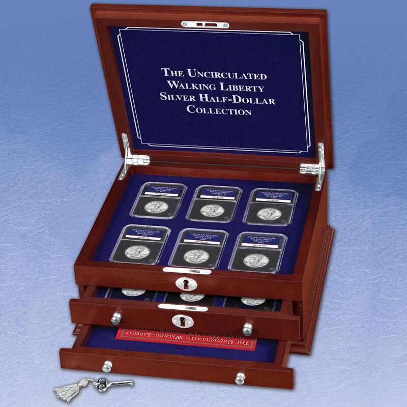 The Uncirculated Walking Liberty Silver Half Dollar Collection WHU 4