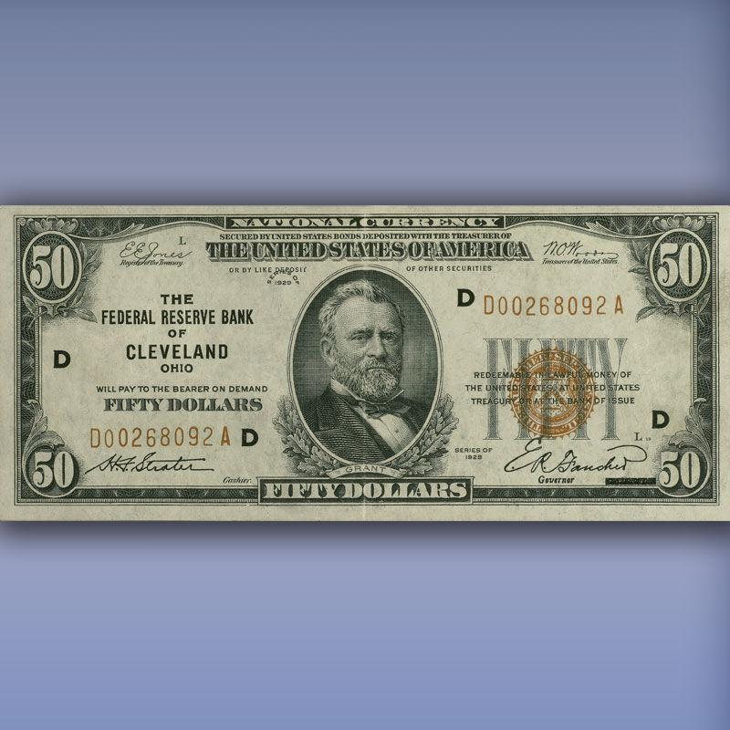 The Complete Denomination Set of 1929 Federal Reserve Bank Notes FR9 3