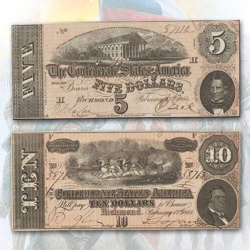 Currency of the Confederate States of America CON 1