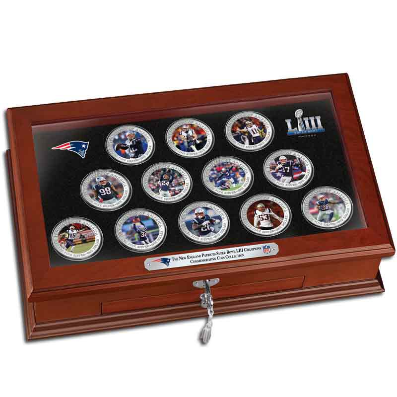 The New England Patriots Super Bowl LIII Champions Commemorative Coin Collection B19 8