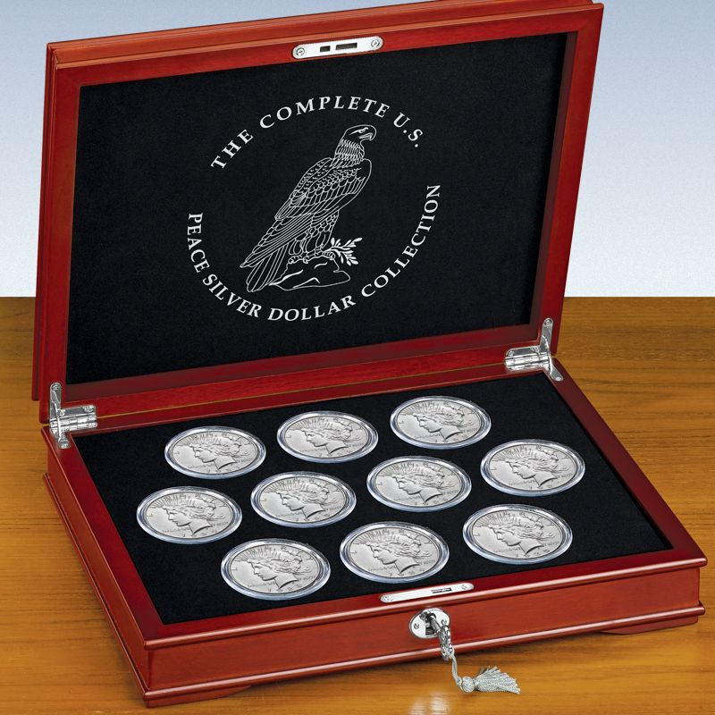 The Complete US Peace Silver Dollar Collection SIP 3