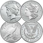 Brilliant Uncirculated US Silver Dollars USD 1