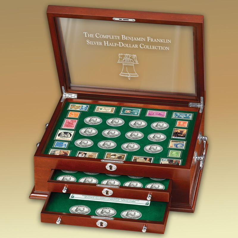 The Complete Benjamin Franklin Silver Half Dollar Collection FHS 4