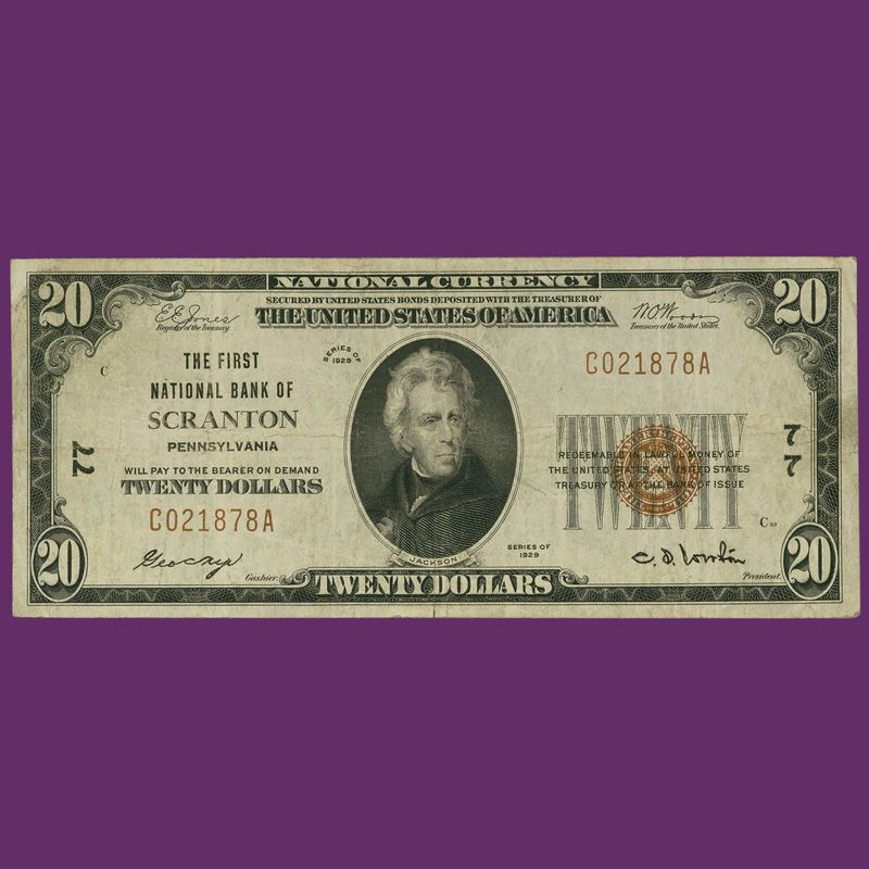 The Complete Denomination Set of 1929 National Bank Notes NBL 3