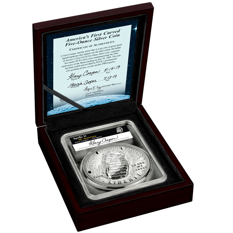 Americas First Curved Five Ounce Silver Coin AP5 6