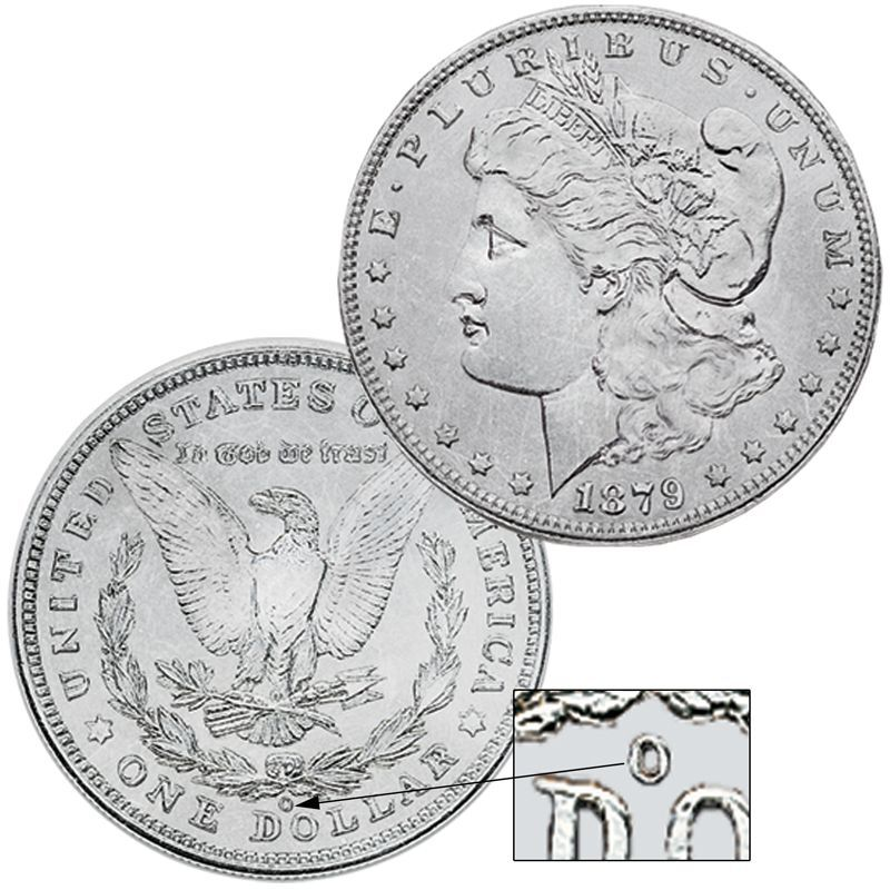 The Complete New Orleans Mint Morgan Silver Dollar Collection MNC 1