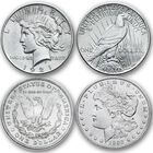 The Complete US Morgan and Peace Silver Dollar Collection AMP 1