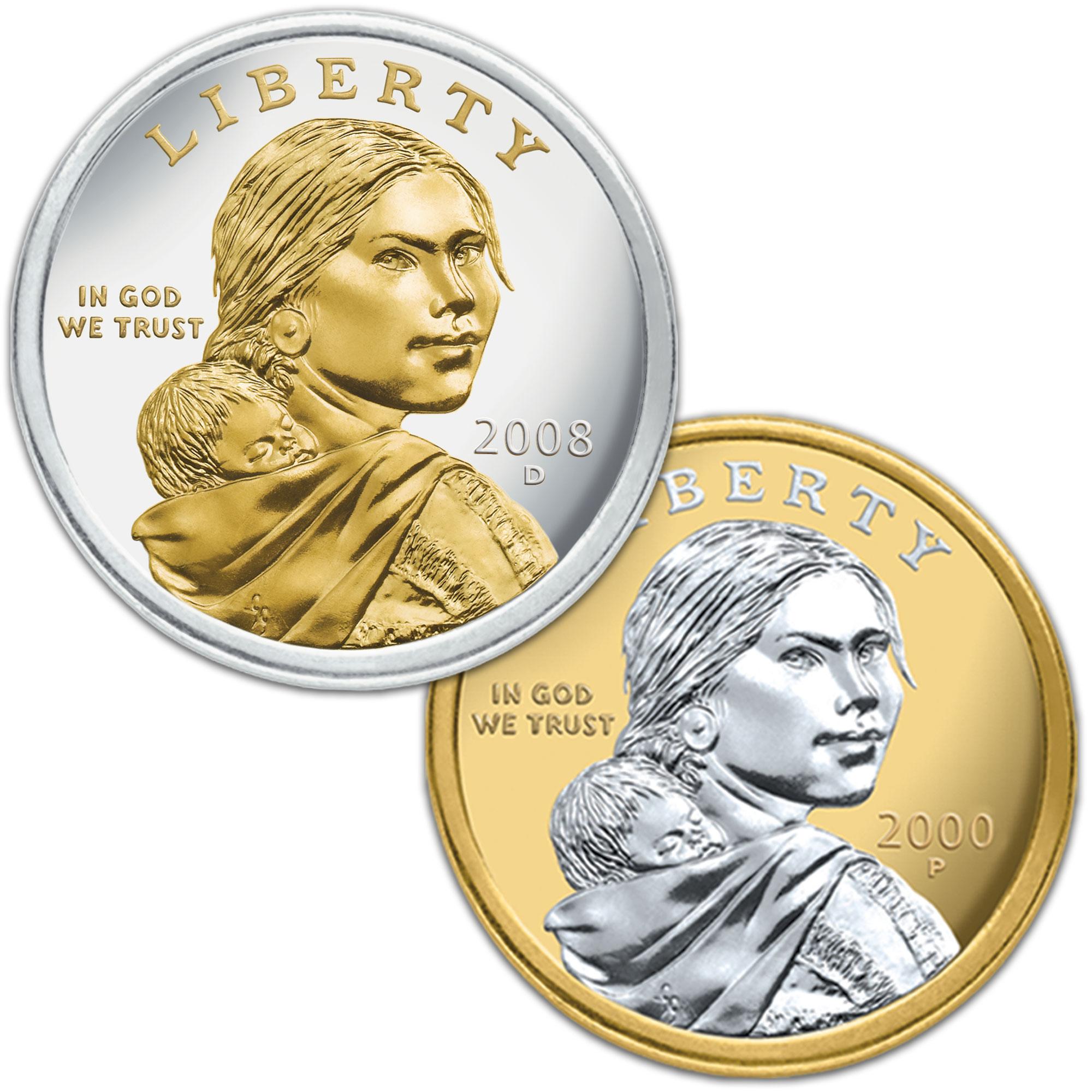 Gold Highlighted Sacagawea Dollars